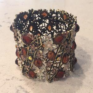 Jeweled cuff bracelet